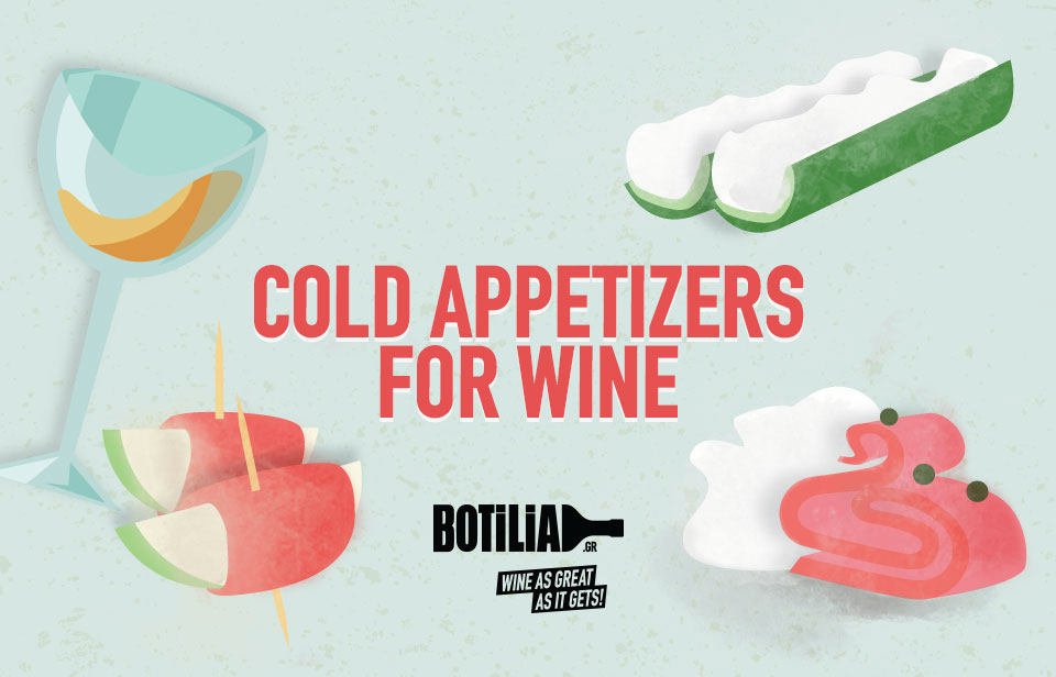 Cold appetisers for wine